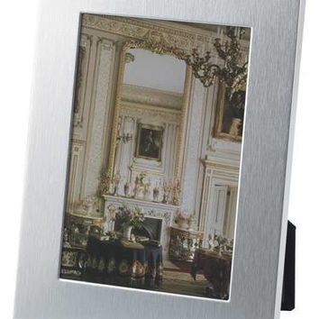 Free Personalized Silver Brush Finish Frame