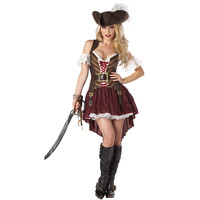 Caribbean Pirate Warrior Costume Women Halloween Pirate Costume