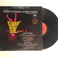 Vinyl Record Barbra Streisand Funny Girl LP Album 1972 Sydney Chaplin Original Broadway Cast Soundtrack