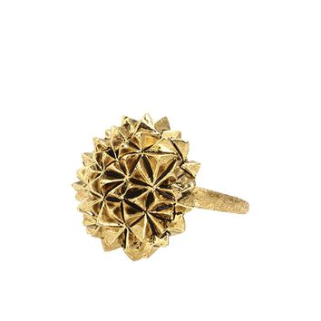 House of Harlow 1960 Jewelry Crater Cocktail Ring