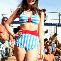 m3s pin-up high-waist bikini- bottoms only