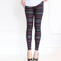 Stripy Leggings perfect for Gym, Hot yoga, Sport, Jogging, Cycling Wear , Women Clothing, Pants, Thights