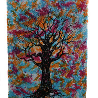Indian New Tree Handmade Tree Of Life Tie-Dye  Wall Hanging Tapestry