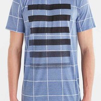 Poolhouse Windowpane Bars Tee- Blue