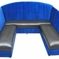 "The ""Magnet"" Blue Swirl Velvet & Black Leatherette"