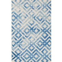 Lucas Geometric Pacific Blue Rug