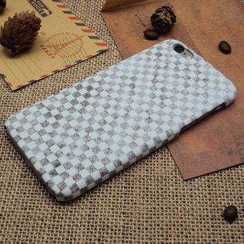 Vintage Checks iPhone 7 7 Plus & iPhone 6 6s Plus & iPhone 5s se Case Personal Tailor Cover + Gift Box-170928