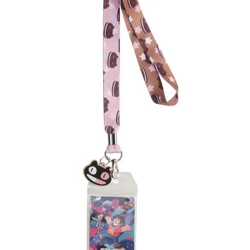 Steven Universe Cookie Cat Lanyard