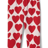 Love print stretch jersey leggings | Gap