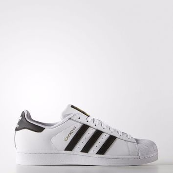 Adidas Originals Mens Superstar 3 Stripe Leather Trainers White (#10384)