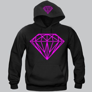 "Diamond Pink Print Hoodie ""2Prints"" Funny and Music"