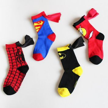3-6T Supehero Socks