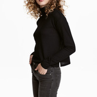 Ribbed Turtleneck Sweater - from H&M