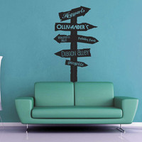 Harry Potter Road Sign Wall Decal - No 1