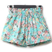 Nice Flower High Waist Shorts
