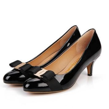 Salvatore Ferragamo Women Fashion Casual Heels Shoes-17