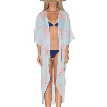 Palm Aqua Beach Kaftan