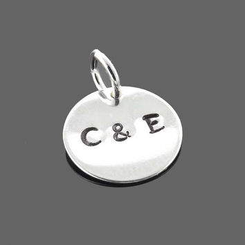 add-on initial charm - silver plated or gold plated