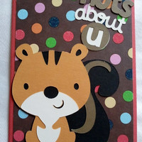 Nuts About U Handmade Card by SkyGirlCards on Etsy