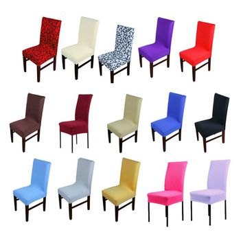 1pc Home Chair Cover wedding decoration Various Colors Polyester Spandex Dining Chair Covers For Wedding Party