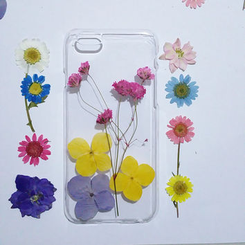 Samsung Galaxy S6 Case, Samsung Galaxy S6 Edge, flower Samsung Galaxy S6 Cases, Galaxy S5 Case flower, pressed flower samsung galaxy case