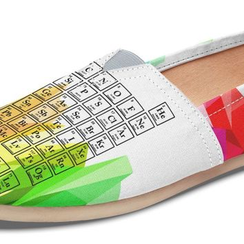 Periodic Table Mosaic Rainbow Casual Shoes
