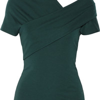 Isa Arfen - Draped wool-jersey top