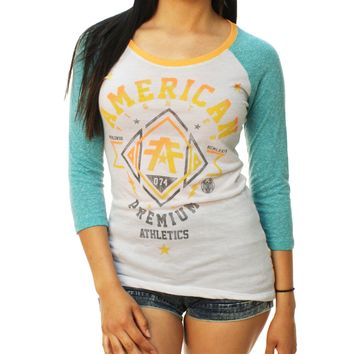 American Fighter Women's Arlington 3/4 Raglan Graphic T-Shirt