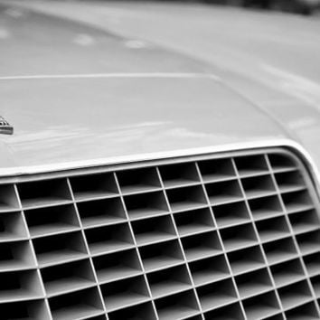 Chevrolet Camaro 1977 Front Grille, Black & White Photo - Classic Car Print for Father's Day