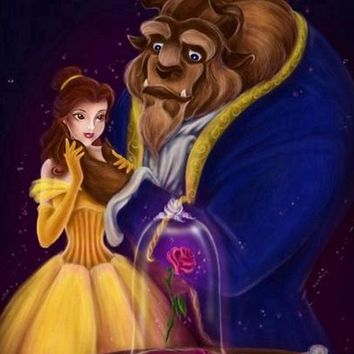 5D Diamond Painting Beauty and the Beast Enchanted Rose Kit