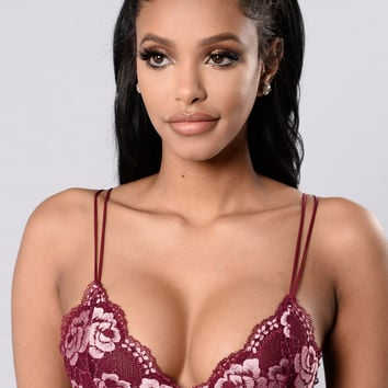 Beautiful Contradiction Bralette - Burgundy