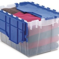 Akro-Mils 66486 CLDBL 12-Gallon Plastic Storage KeepBox with Attached Lid, 21-1/2-Inch by 15-Inch by...