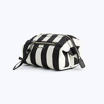 Striped Trooper Framed Big Biz Cosmetics Case - Marc Jacobs