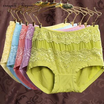 New elegant women floral lace panties high waist hipster antibacterial sexy undergarments for ladies multi color option