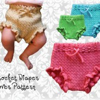 Crochet Diaper Cover Pattern Diaper Soaker | Los Angeles Needlework