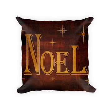 Noel I Woven Cotton Throw Pillow