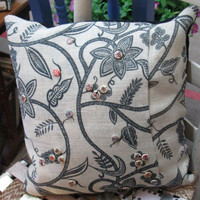 Timeless Burlap Throw Pillow, Country Design, Accent Pillow. , Rustic Design Pillow