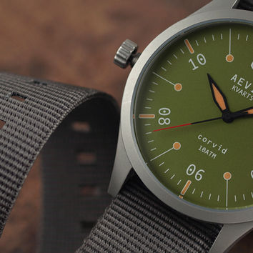 Aevig Corvid Rethinks The Classic Quartz Field Watch