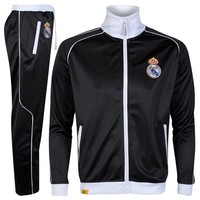 Real Madrid Classic Tracksuit - Mens Black