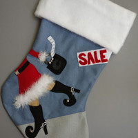 Shopping in Style Christmas Stocking