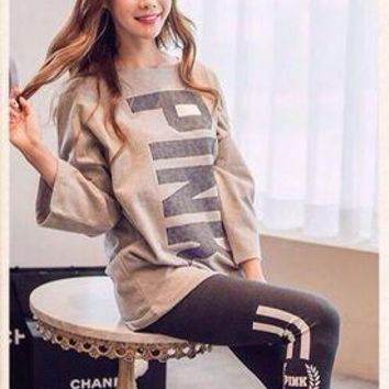 Women Cotton Knit Long Sleeve Pajamas Sleepwear _ 13489