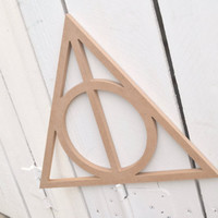 Unfinished Wooden Decor - Harry Potter Deathly Hallows Shape - Perfect for Crafts or DIY Ready to Paint - Cute for Harry Potter Room/Nursery