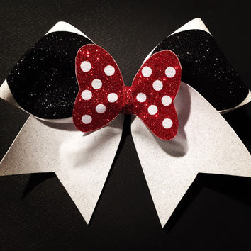 3in. Glitter Minnie Mouse Cheer Bow