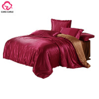 CARA CARLE 4pcs Bedding Set Silk Cotton King Queen Twin size Duvet Cover Bed Sheet Bedlinen Bedclothes Luxury Bedding sets