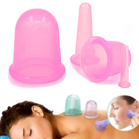 1 Set/4 Pcs Health Care Body Anti Cellulite Silicone Vacuum Massage Eye Neck Face Back Massager Cupping Cup