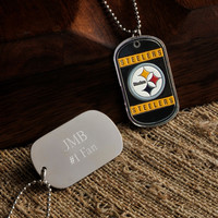 Personalized NFL Dog Tag - Steelers