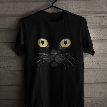 Black Cat Face 242 shirt for man and woman shirt / tshirt / custom shirt