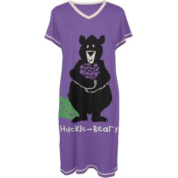 ONETOW Bear Huckle-Beary Women's V-Neck Nightshirt