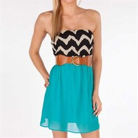 Emerald Sundae Juniors Strapless Twofer Dress at Von Maur