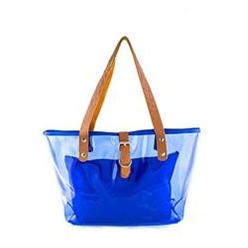 """""""Clear The Way"""" Vinyl Tote Bag With Matching Pouch"""